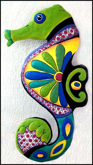 Hand Painted Metal Outdoor Garden Art Geckos